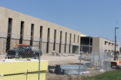 Construction continues on new building