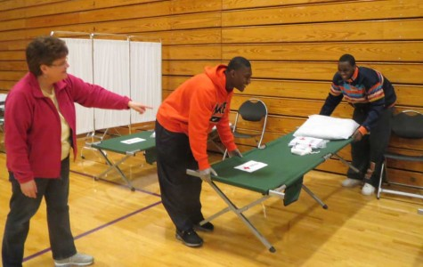 Gym opened as Red Cross shelter