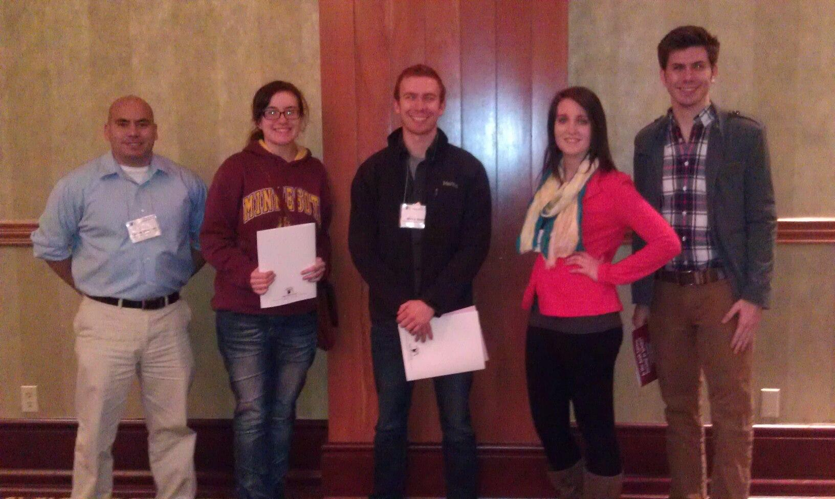 The five students who attended  the PAWAC are (from left) Carlos Alvarado, Ali Braboy, Blake Slutz, Marissa Mackenzie, and Max Halm.