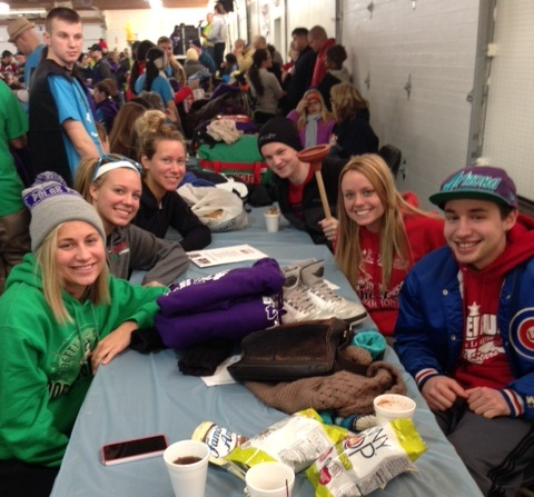 Students who participated in the plunge include Brianna Bertolino, Tony Bertolino, Elizabeth Rice, Jack Click, Melanie Franklin and Sara Turinetti.