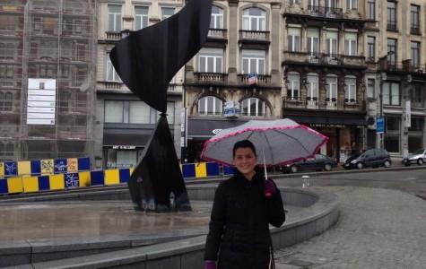 Former student visits Belgium