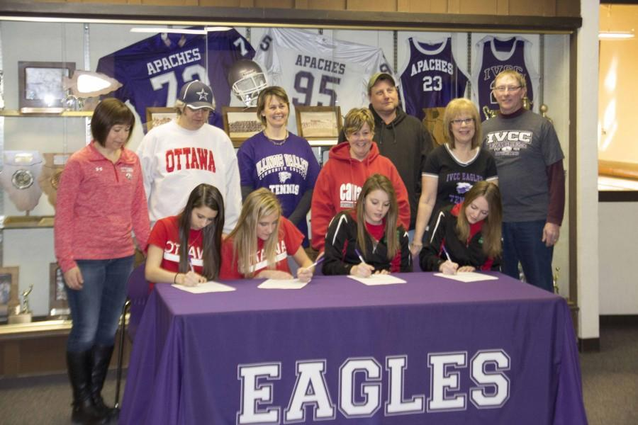 Top local talent commits to Lady Eagles tennis