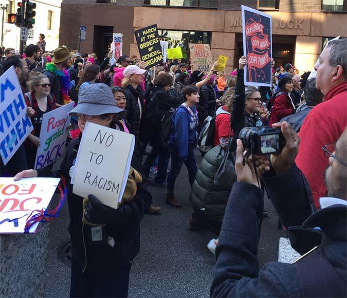 Women's March: IVCC students join the crowds