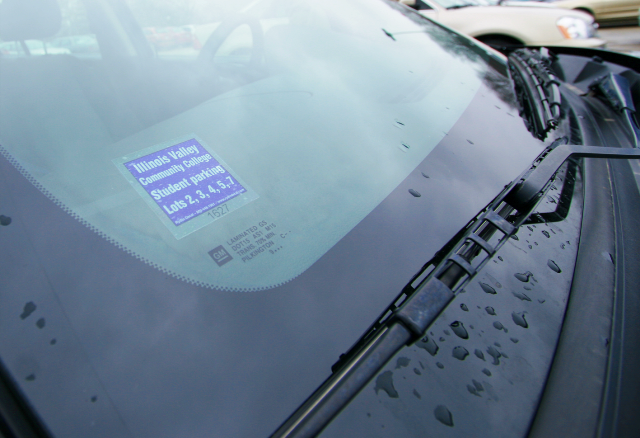 Parking stickers required for cars in student lots