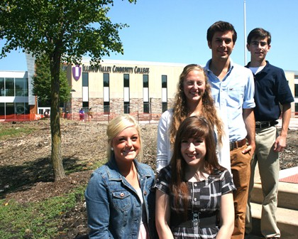 21st Century Scholar finalists are Michayla Fassino, left, Nadia Churchill-Gilstrap, April Kutz, Max Halm, and Alex Groh