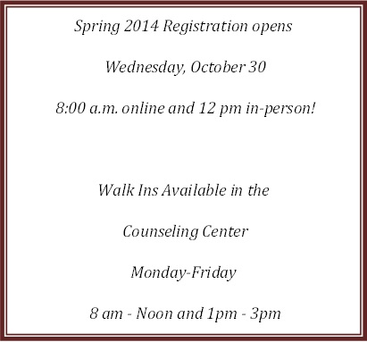 October brings Spring…Spring registration that is!