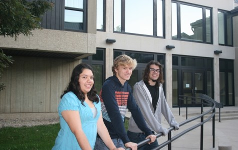 IVCC freshmen Stephanie Vera of Spring Valley (from left), Tiernan Ebener of Peru, and Christian Bender of Oglesby were recently elected to Student Government Association positions. Vera was elected freshman representative and Bender and Ebener to the freshman programming board.