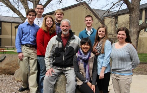2014 McCormack Scholars are Alex Groh, left, Marshal Hermann, Amy Weber, Tyler Wallin, Jeff Hamilton, Leah Kuhn, Joe Sydlowski, Hannah Sons and Michaela Copeland. Kelly McDonough was unavailable for the photo.