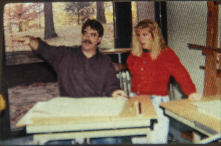 David+Bergsieker%2C+IVCC+art+professor%2C+instructs+a+student+in+a+photo+taken+circa+Feb.+1994.+He+taught+classes+including+drawing%2C+design%2C+photography%2C+art+history%2C+painting%2C+and+life+drawing.