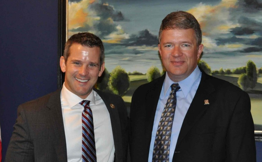 IVCC+geology+professor+Mike+Phillips+%28right%29+poses+with+Representative+Adam+Kinzinger+during+his+recent+visit+to+Washington%2C+D.C.+where+he+spoke+to+Illinois+legislative+staff+about+funding+for+the+sciences.