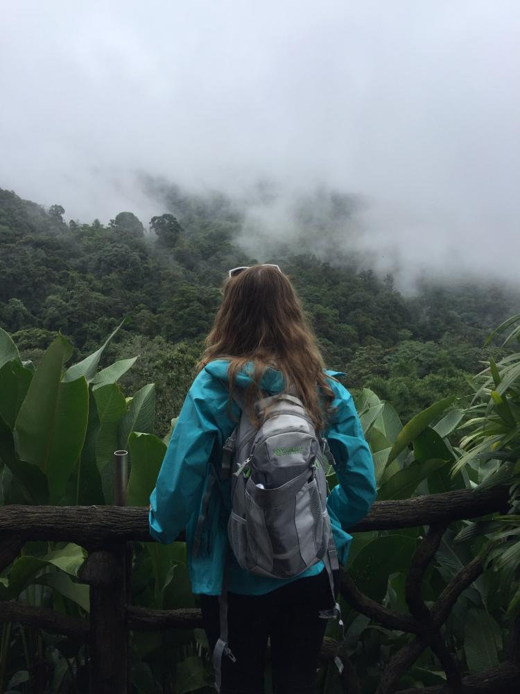 Stephanie Bias, sophomore, overlooks La Paz Waterfall Gardens in Alajuela, Costa Rica. Bias travelled to Costa Rica and was the only IVCC student to study abroad this summer through the ICISP study abroad program.