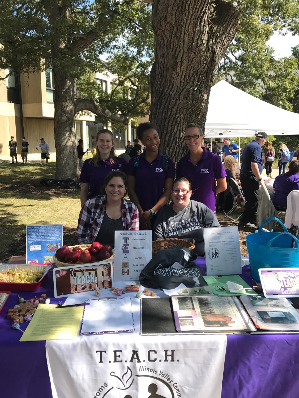 At Spirit Day   T.E.A.C.H Unified officers Alyssa McCauley, Angel-Nicole Kizer, Advisor Jill Urban-Bollis, Brianna Hagenson and Tifanie Kreft.