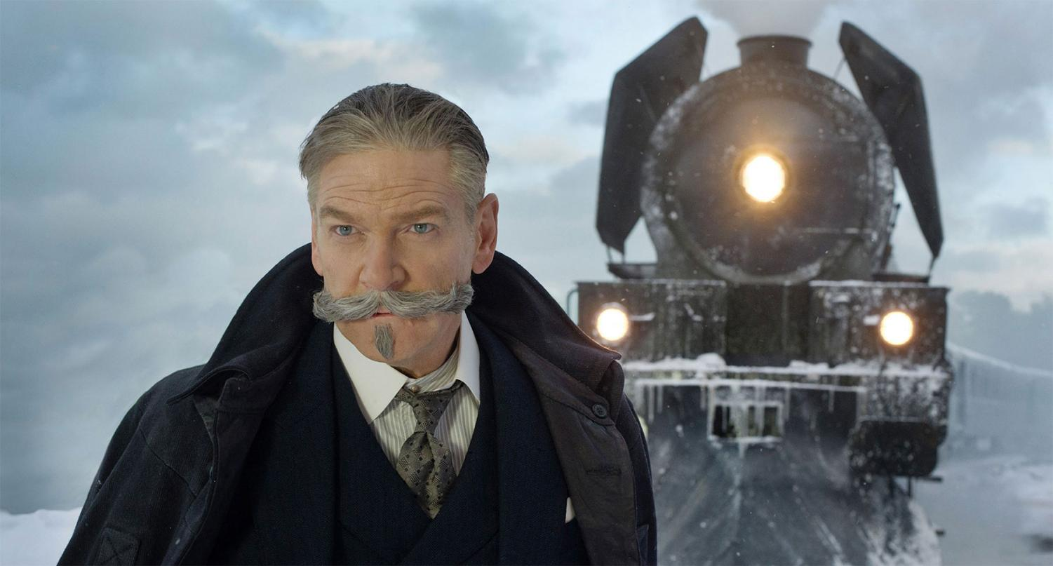 "Whodunnit? Kenneth Branagh stars as detective Hercule Poirot in this remake of the Agatha Christie classic ""Murder on the Orient Express."""