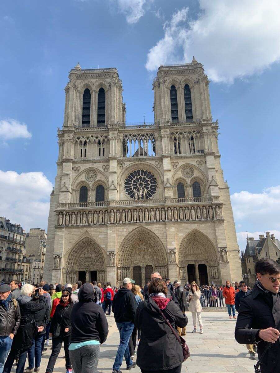 IVCC student Elizabeth Peruba snapped this photo of the Notre Dame Cathedral just moments before it went up in flames this April.