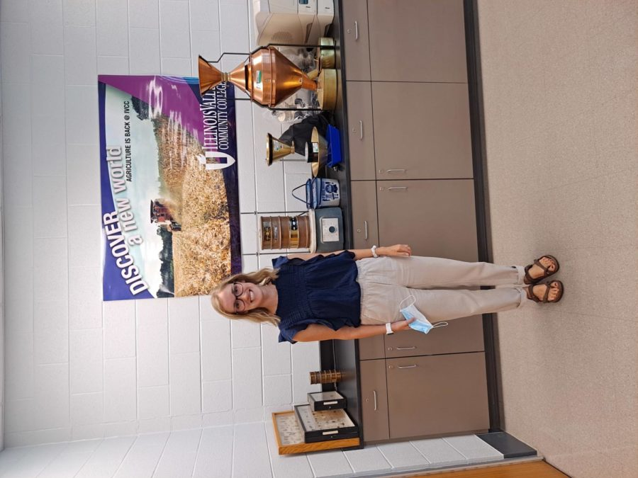 new ag instructor Caitlinn Hubbell pictured