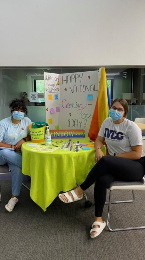 Students promote National Coming Out Day message board